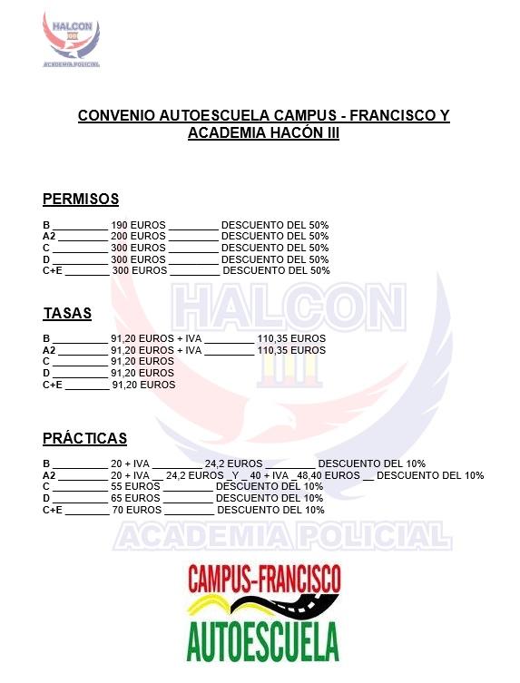 Convenio con la Autoescuela Campus Francisco