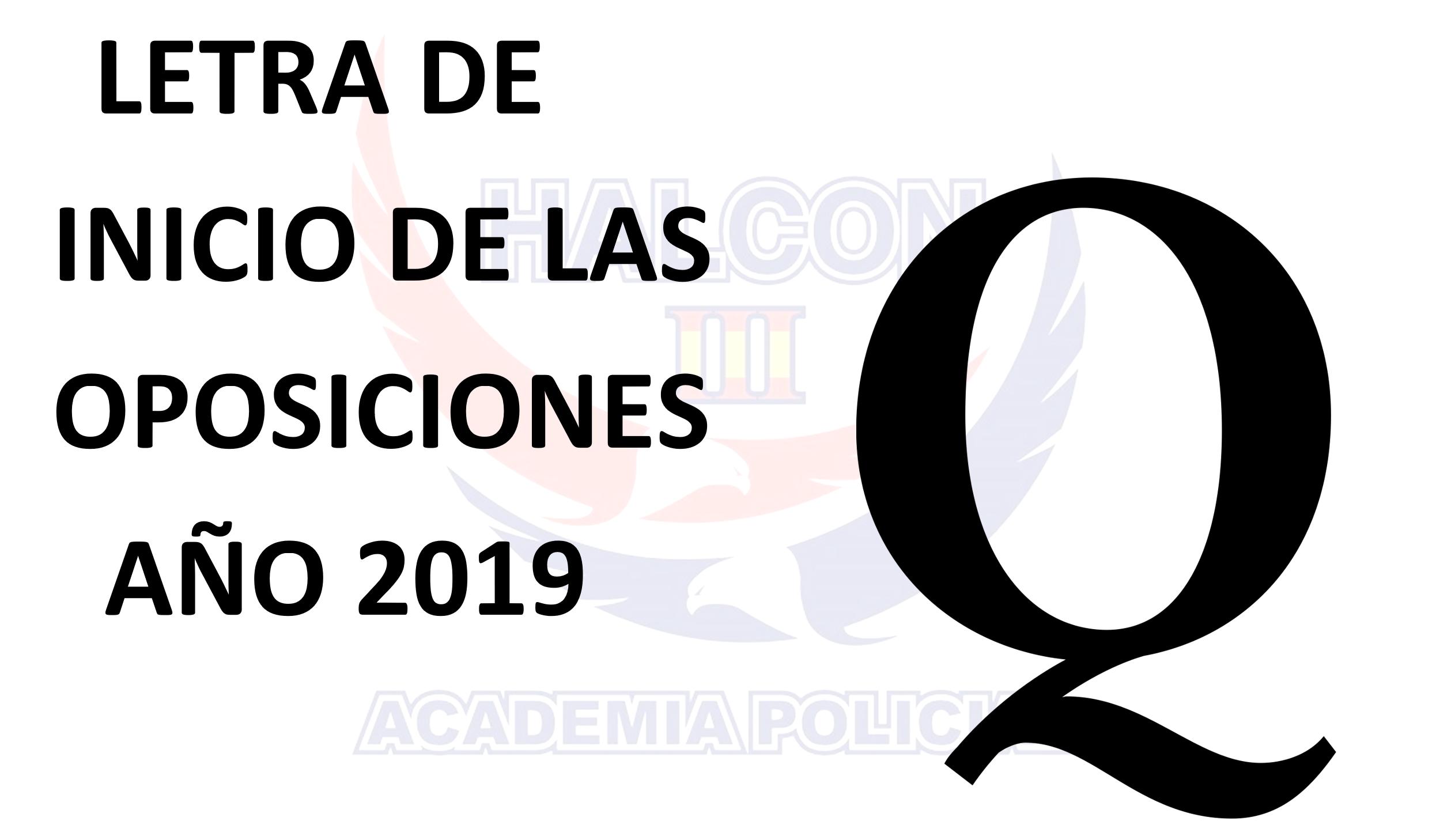 Letra oposiciones año 2019